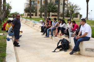 students during a tour in Jaffa